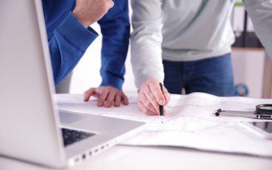 Zwei Architekten Planen Ein Projekt